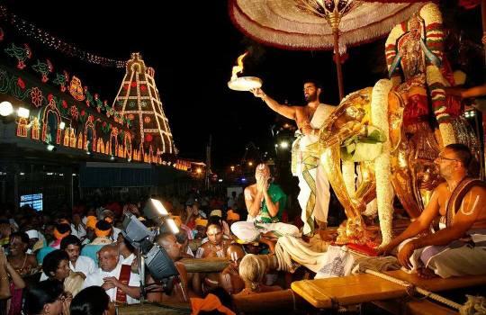 Lord Sri Venkateswara On Gaja Vahanam In Tirumala Brahmotsavams,2014