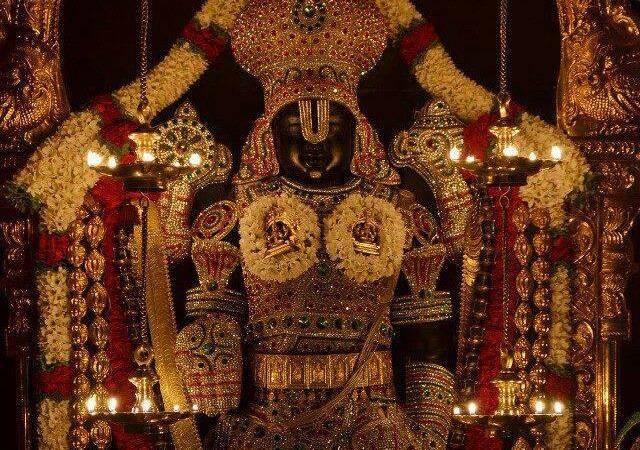 Lord-Sri-Venkateswara-Decorated-With-Diamond-Jewelry