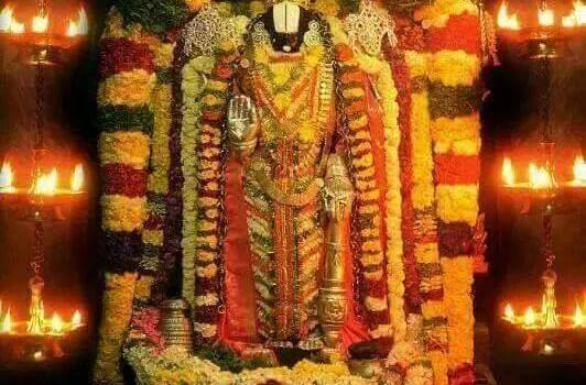 Lord Sri Venkateswara In His Celestial Abode