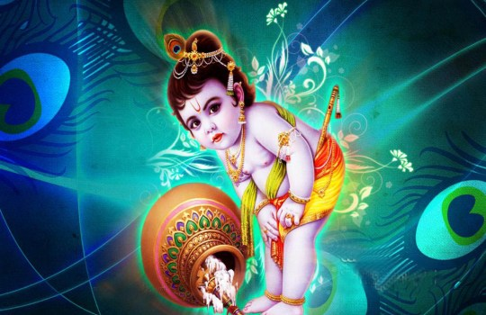 Lord Krishna With Butter