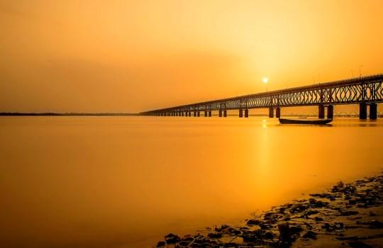 Dhavaleswaram Bridge On River Godavari In Rajahmundry