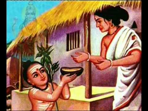 Adi Sankaracharya, A Poor Brahmin Lady And Goddess Lakshmi