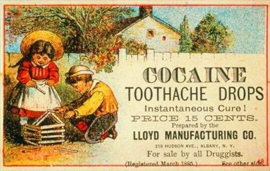 Gocce di cocaina anti mal di denti