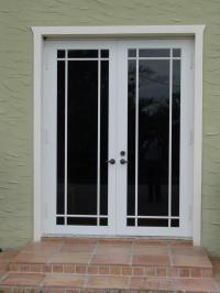 French Doors Exterior: Brown French Doors Exterior