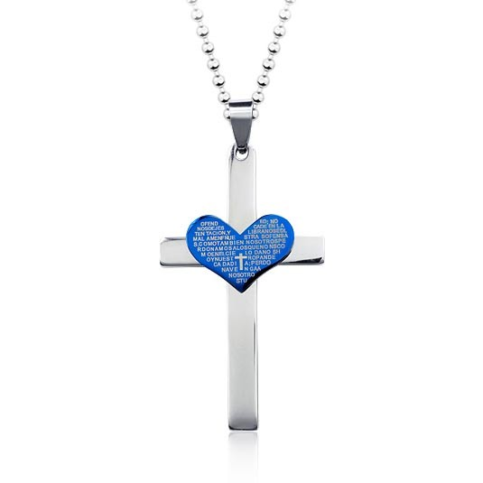 Fashion Cool Sweetheart Cross Pendant And Necklace 89