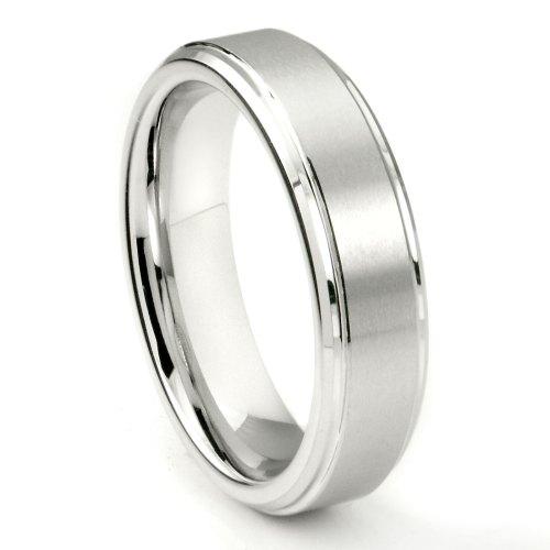 White Tungsten Carbide 6MM Wedding Band Ring w Raised Center P grey tungsten wedding bands You may also like White Tungsten Carbide 8MM Plain Dome Wedding Ring