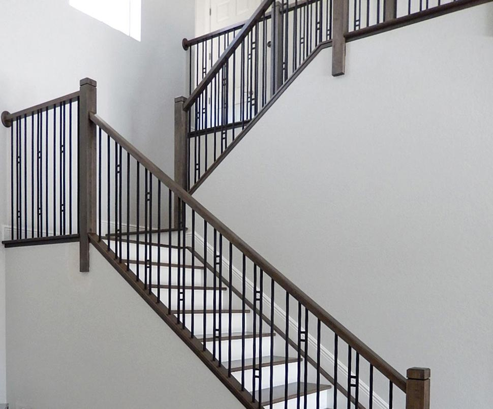 Stair Railing Remodels Custom Woodworking Fireplace