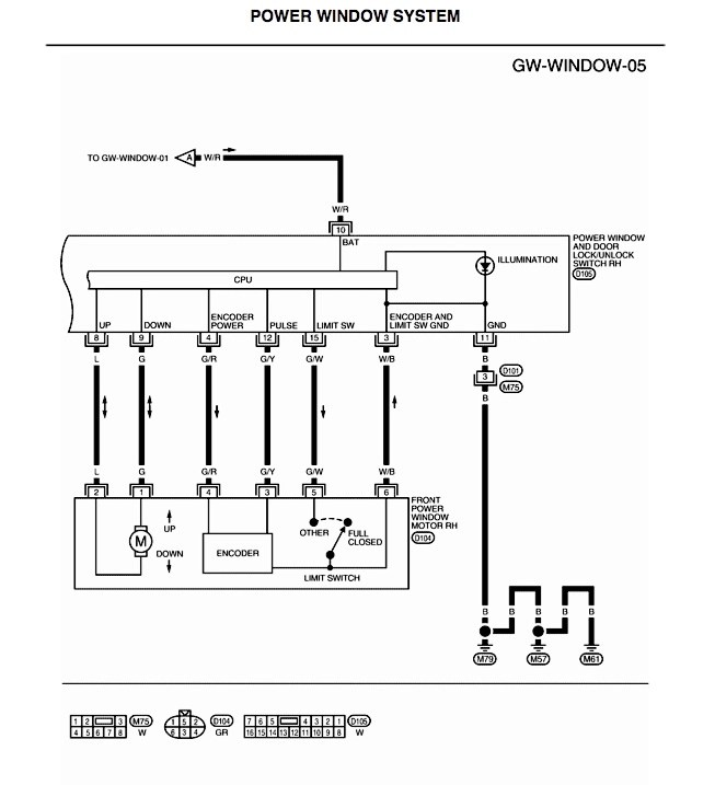 i need wiring diagram for power window switches - Nissan Titan Forum
