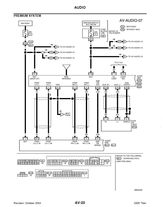 rockford fosgate nissan an radio wiring diagram