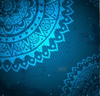 Free Elegant Blue Floral Patterns Background Vector 02 ...