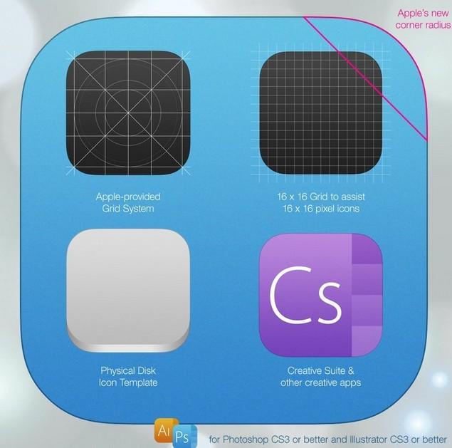 Free New iOS 7 App Icon Template (PSD  AI) - TitanUI - iphone app icon template