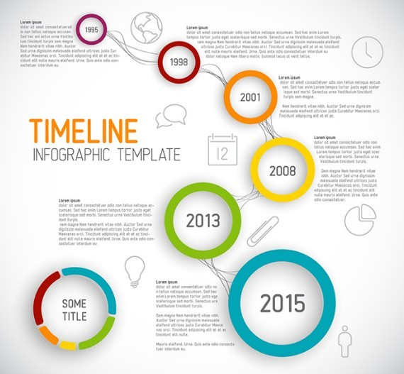 Michelle (cassutodesign) on Pinterest - business timeline template