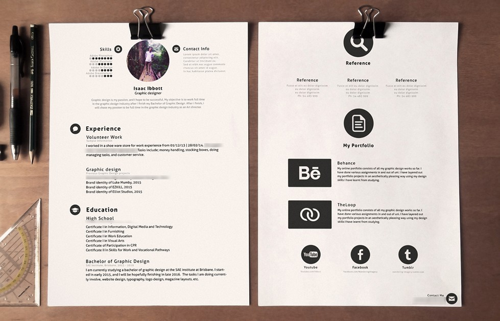 Resume Template Psd - Resume Template Easy -   www - resume template psd