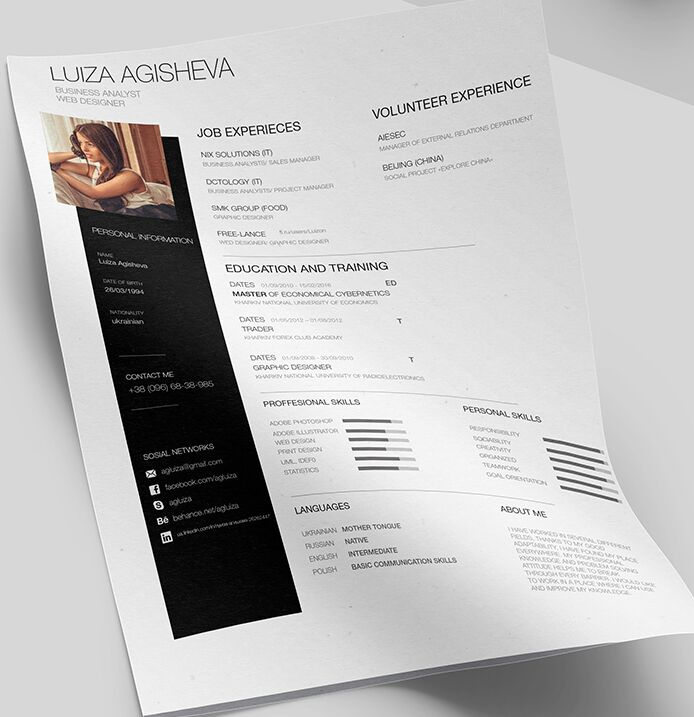 template cv design psd