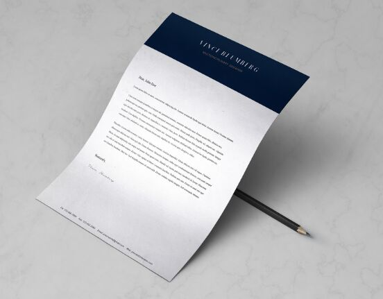 Free Minimal A4 Letter  Resume Template (PSD+Vector) - TitanUI