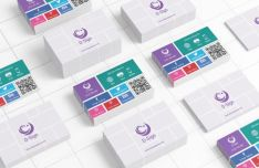 Realistic Tiled Business Card Template