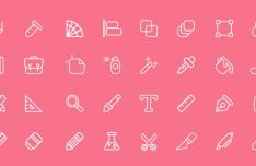 32 Graphic Design Line Icons Vector