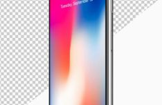 2 Realistic iPhone X Mock-ups PSD