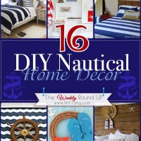 16 DIY Nautical Home Decor {The Weekly Round Up}