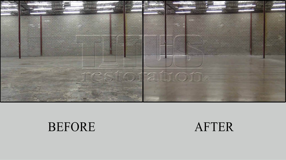 Before And After Transformations Of Industrial Polished Concrete