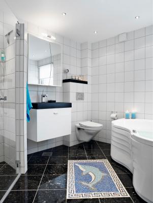Badezimmer Mit Weis Und Anthrazit u2013 edgetagsinfo - badezimmer anthrazit weis fliesen