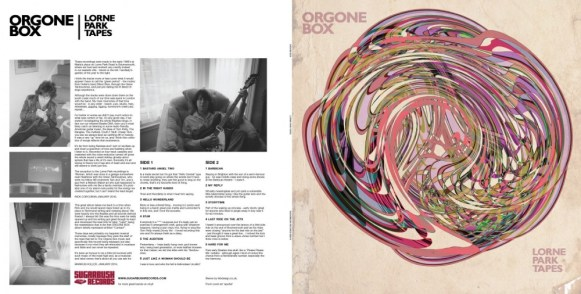 LP Sleeve Front cover art 'spural' and rear layout.