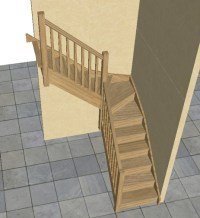 Oak Staircase > 3 kite Winder Stair, Posts & Balustrade | eBay