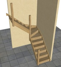 Oak Staircase > 3 kite Winder Stair & Posts | eBay