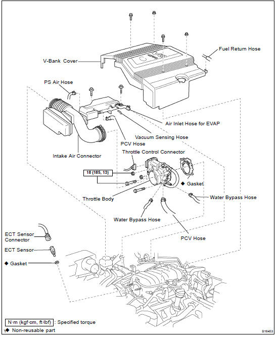 Toyota Land Cruiser Engine coolant temperature (ECT) sensor - SFI