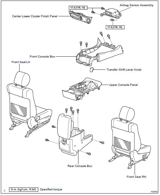 Toyota Land Cruiser Airbag sensor assembly - SFI