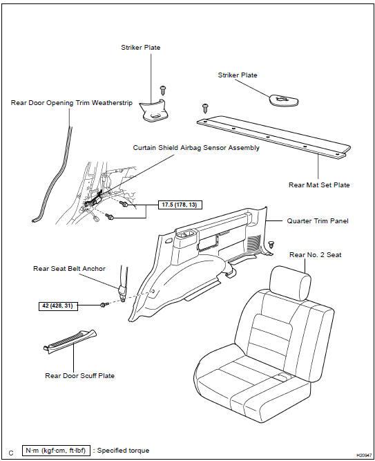 Toyota Land Cruiser Curtain shield airbag sensor assembly - SFI
