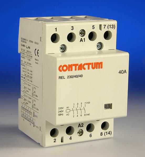 40 Amp 4 Pole Contactor - 3 Module