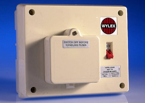 3 Way Insulated Consumer Unit - 60 Amp Switch