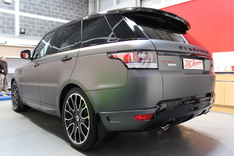Range Rover Sport Overfinch Matte Dark Grey Vinyl Wrap