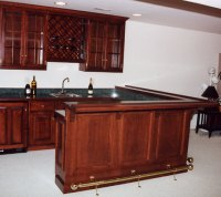 Custom Home Bar Cabinets
