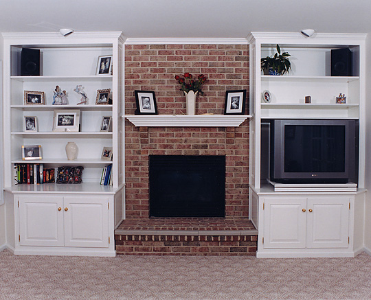 Fireplace Cabinets Built In Wall Units Bookcases