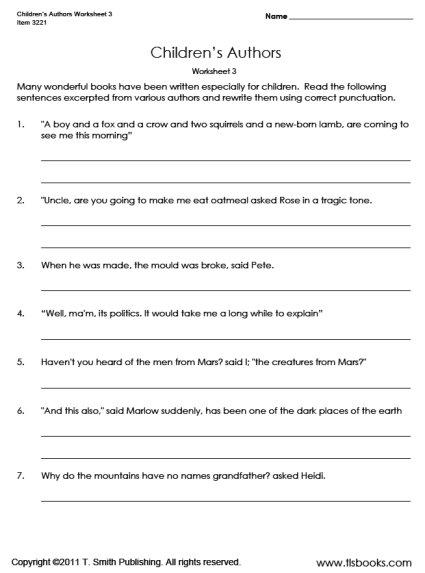 Free Grammar Worksheets for Kindergarten-Sixth Grade