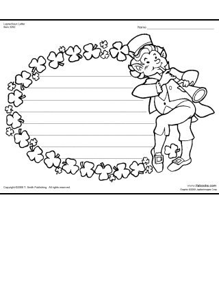 Leprechaun Letter printable writing template