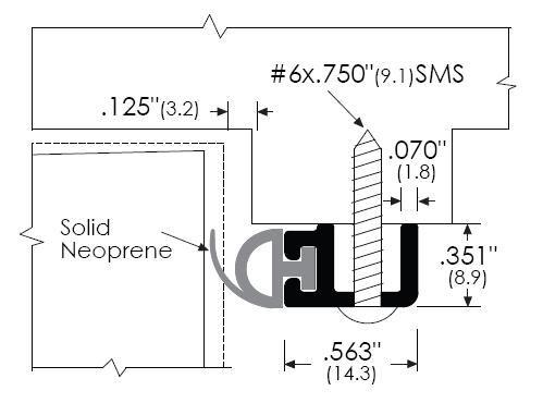 Zero 485 Door Gasket Basic Head And Jamb Protector