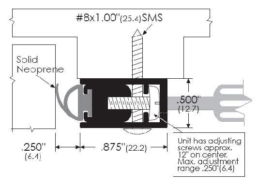 Zero 870 Door Gasket Adjustable Neoprene Seal Provides