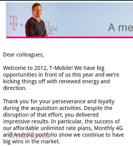 T-Mobile CEO Welcomes The New Year With Statement, \ - welcoming messages for new employees