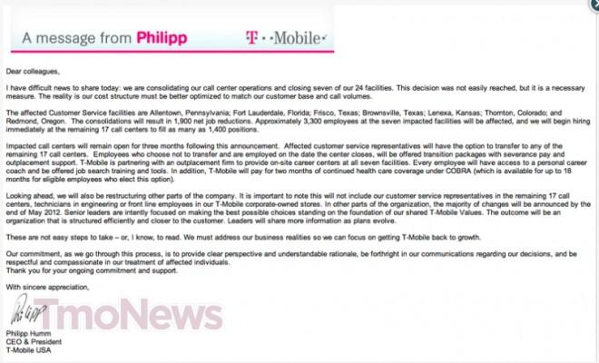 T-Mobile Announces The Closing Of Seven Call Centers Around The - tmobile costumer service