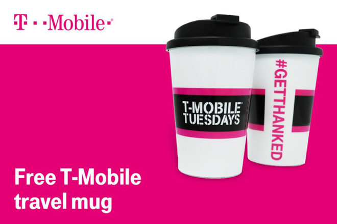 T-Mobile customers can get two free T-Mo travel mugs next week one