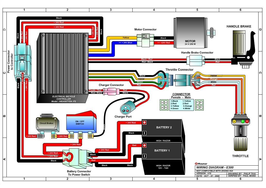 110cc Atv Wiring Diagram Remote Razor E300s Scooter Parts
