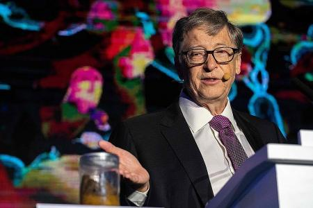 Bill Gates uses poop to show off pioneering toilet, Latest World News - The New Paper
