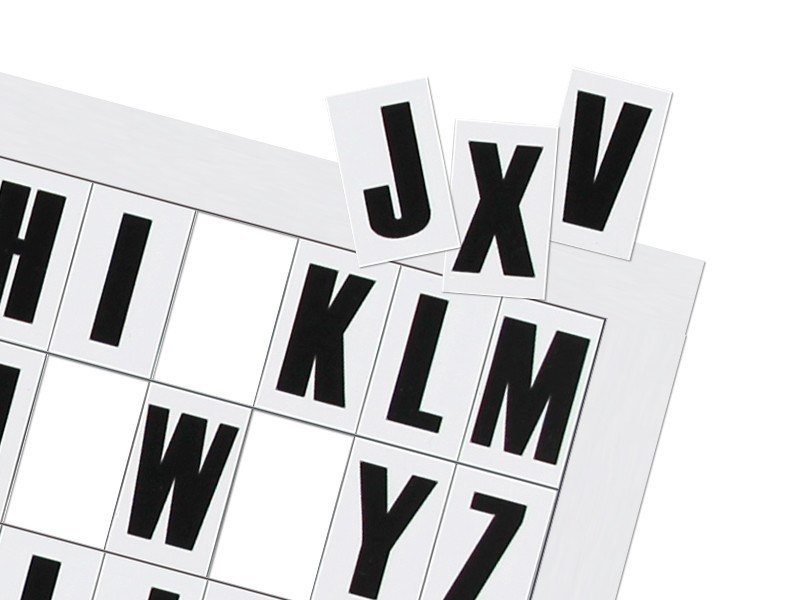 Magnetic letters (A4 sheet) - TnP Visual Workplace