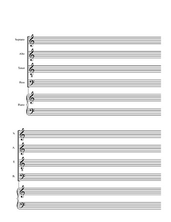 Music Staff Paper Template Next, Take The Sheet And Measure Out 3 - music staff paper template