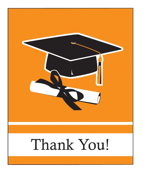 To-Do\u0027s, the Ultimate Party Store Graduation Thank You Cards (Orange)
