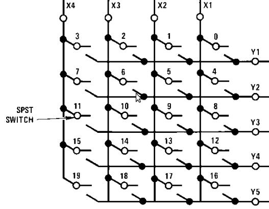 keypad circuit diagram from the 74c922 datasheet