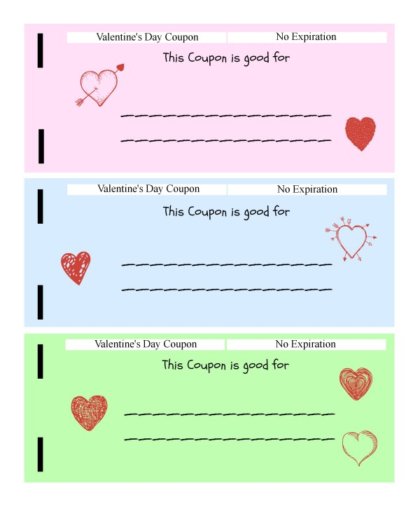 Valentines Day Coupon Book for Kids (free printable) - ToBeThode